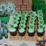 Cupcakes Festa Minecraft do Lucas
