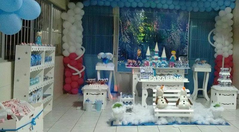 Decoração Festa Frozen da Alicia