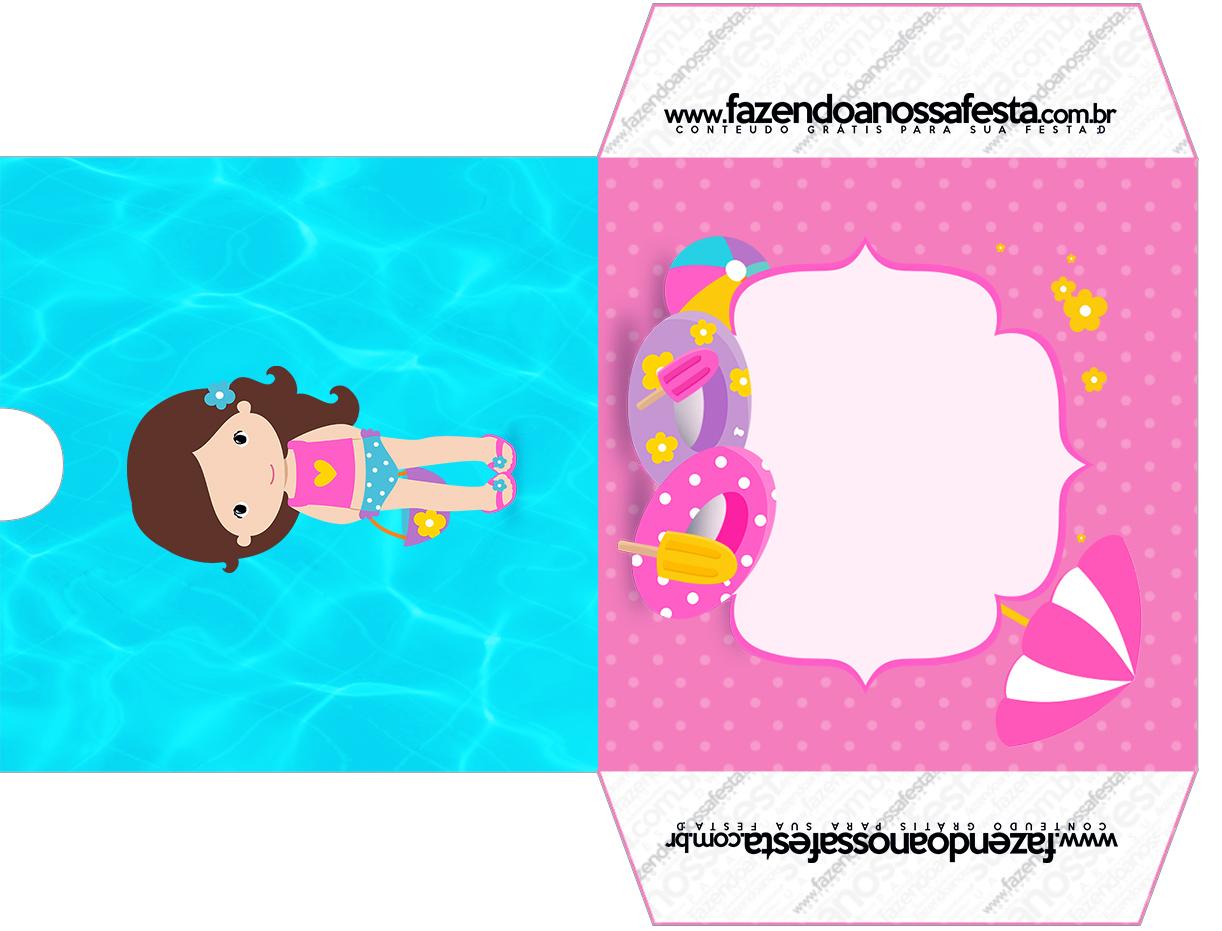 Envelope CD DVD Pool Party Menina