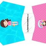 Envelope Fritas Pool Party Menina