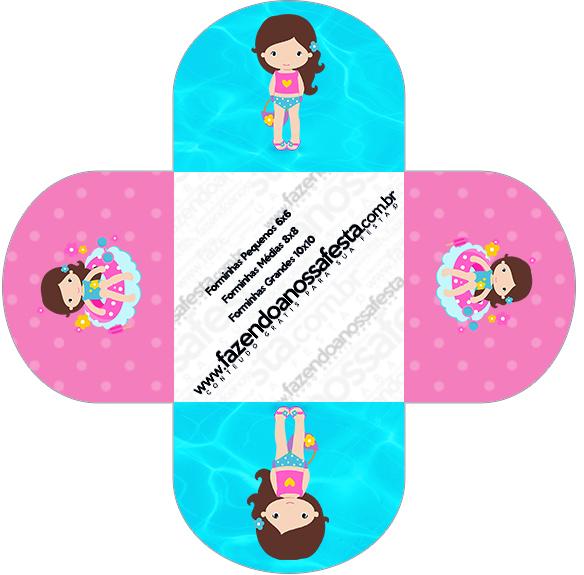 Forminahas Docinhos Redonda Pool Party Menina