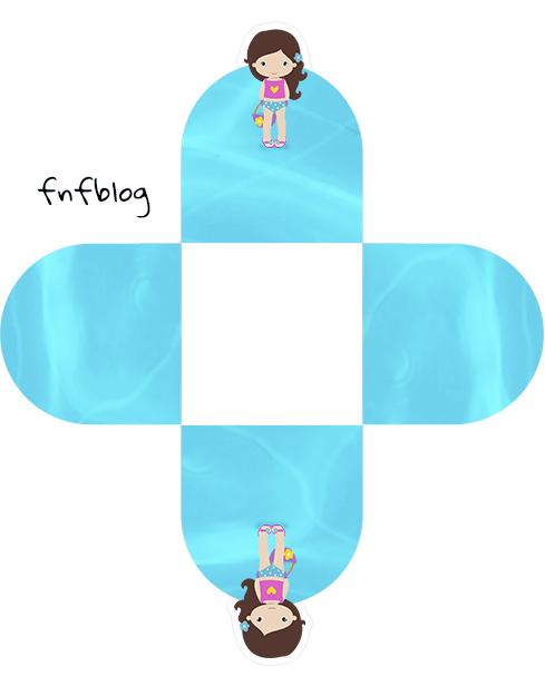 Forminhas Docinhos 3D Pool Party Menina