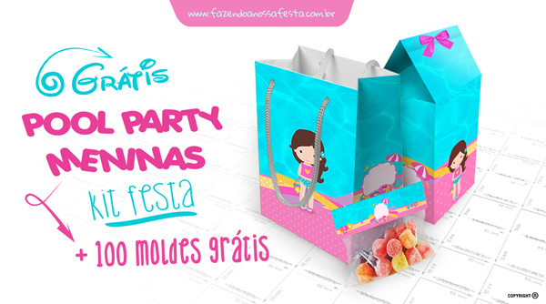 Kit Festa Pool Party Meninas - Festa na Piscina