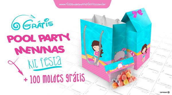 Kit Festa Pool Party Meninas - Festa na Piscina