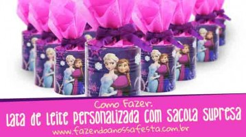 Lata de Leite personalizada com Sacola Surpresa