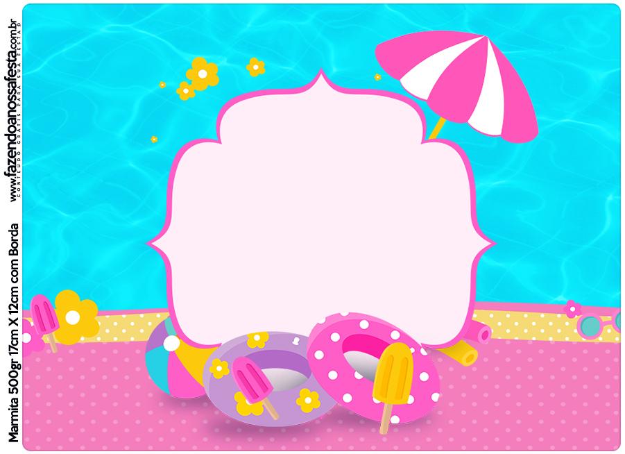 Marmita 500g Pool Party Menina