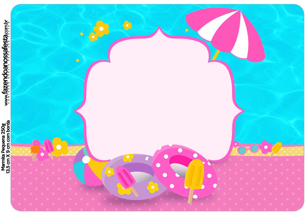 Marmita Pool Party Menina