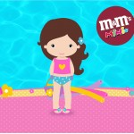 Mini M&M Pool Party Menina