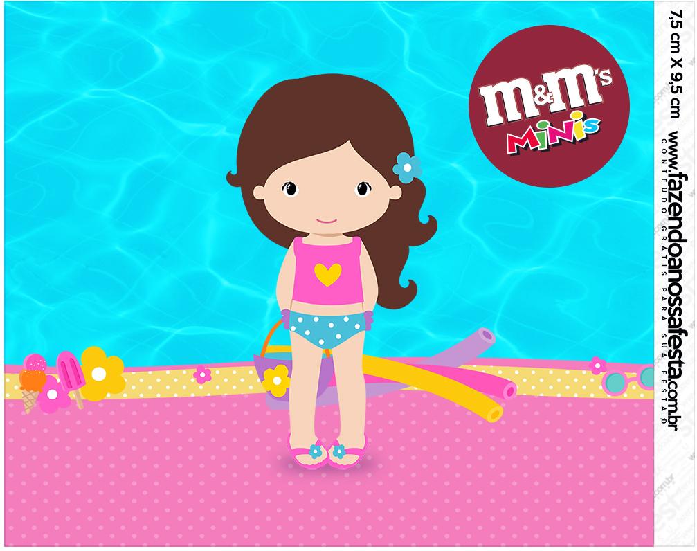 Mini M&M Pool Party Menina