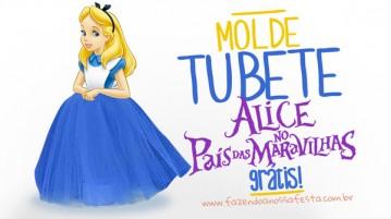 Molde Tubete Alice no País da Maravilhas