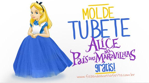 Molde Tubete Alice no País das Maravilhas