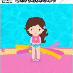 Molde Qualquer tamanho Pool Party Menina