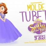 Molde Tubete Princesa Sofia – Pronto para Imprimir