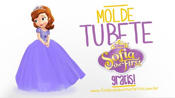 Molde Tubete Princesa Sofia