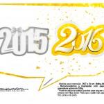 Plaquinha Divertida para Fotos 2016 Ano Novo 31
