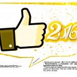 Plaquinha Divertida para Fotos 2016 Ano Novo 46