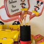Plaquinhas divertidas Festa Mickey Mouse do Martim