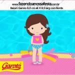 Rótulo Baton Garoto Pool Party Menina