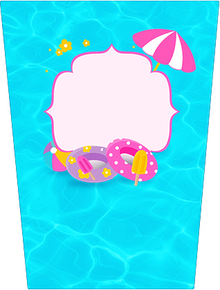 Rótulo Bisnaga Flip Top Pool Party Menina