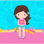 Rótulo Bolinha de Sabão Pool Party Menina