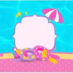 Rótulo Caixa Bombom Pool Party Menina