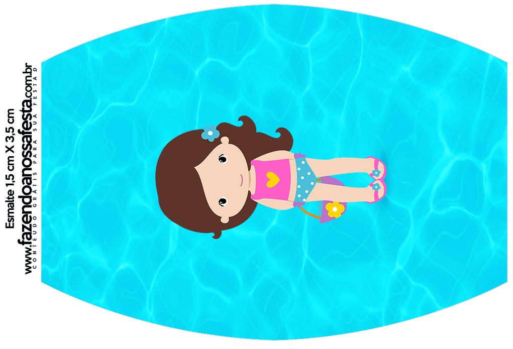 Rótulo Esmalte Colorama Pool Party Menina