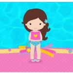 Rótulo Espumante Pool Party Menina