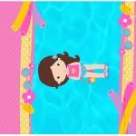 Rótulo Pé de Moleque Yoki Pool Party Menina