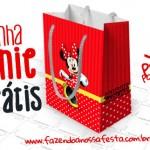 Sacolinha Surpresa Minnie Vermelha – Pronta para Imprimir