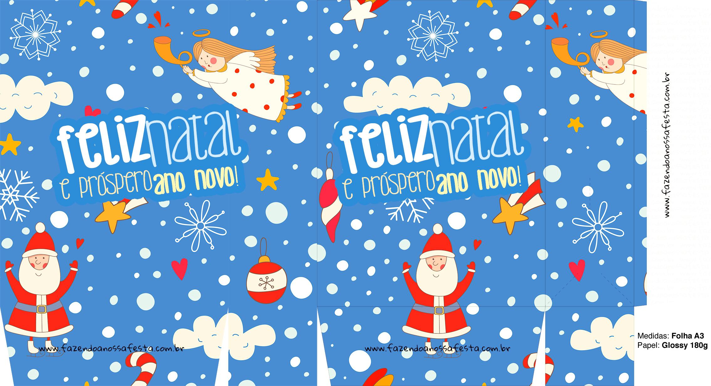 Sacolinha Natal Boas Festas A3