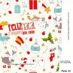 Sacolinha Natal Boas Festas Branca A4 - Parte 1