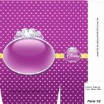 Sacolinha Princesas Disney Roxa A4 - Parte 1