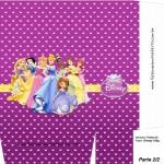 Sacolinha Princesas Disney Roxa A4 - Parte 2