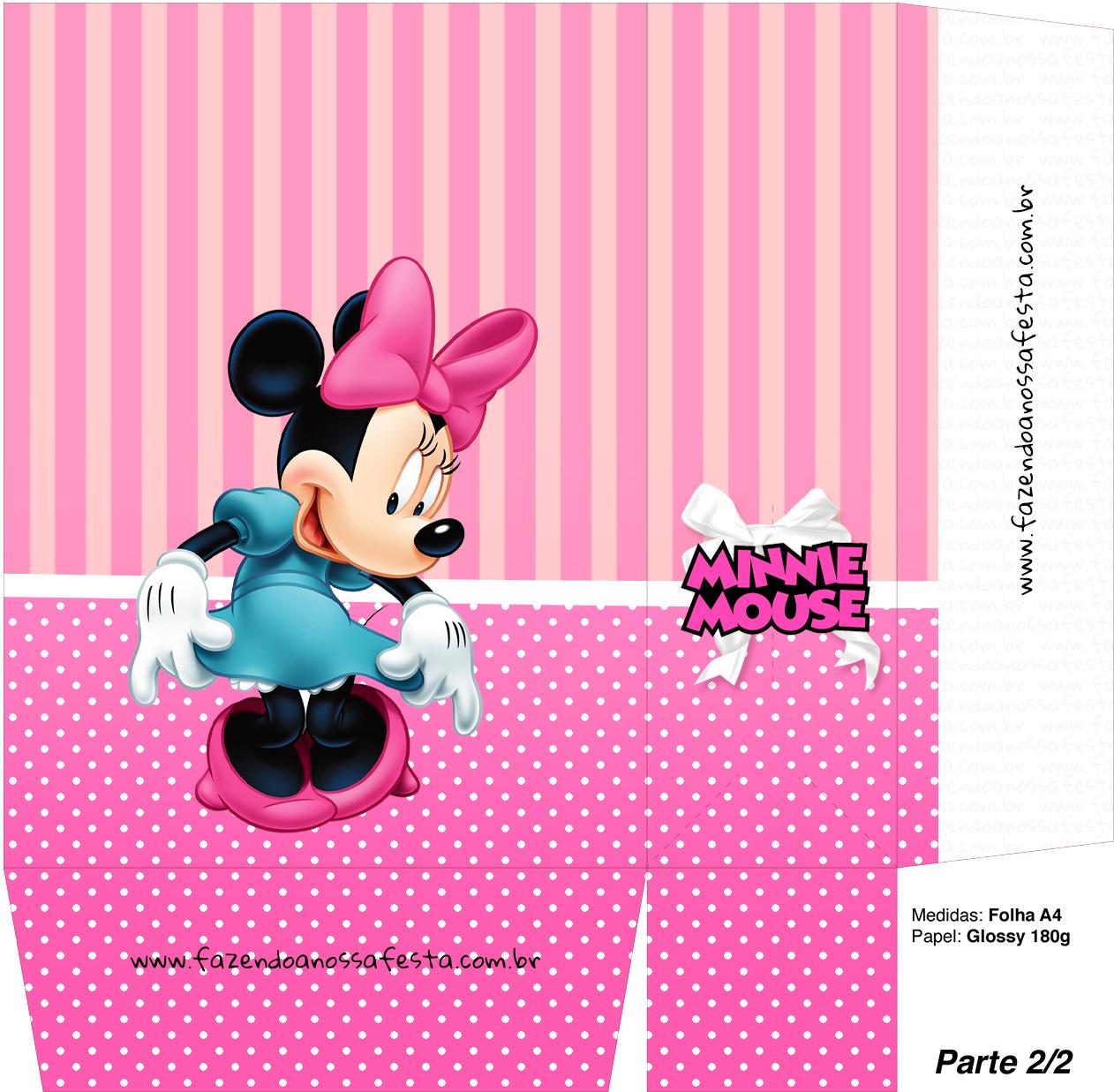 Sacolinha Surpresa Minnie Mouse - A4 Parte 2