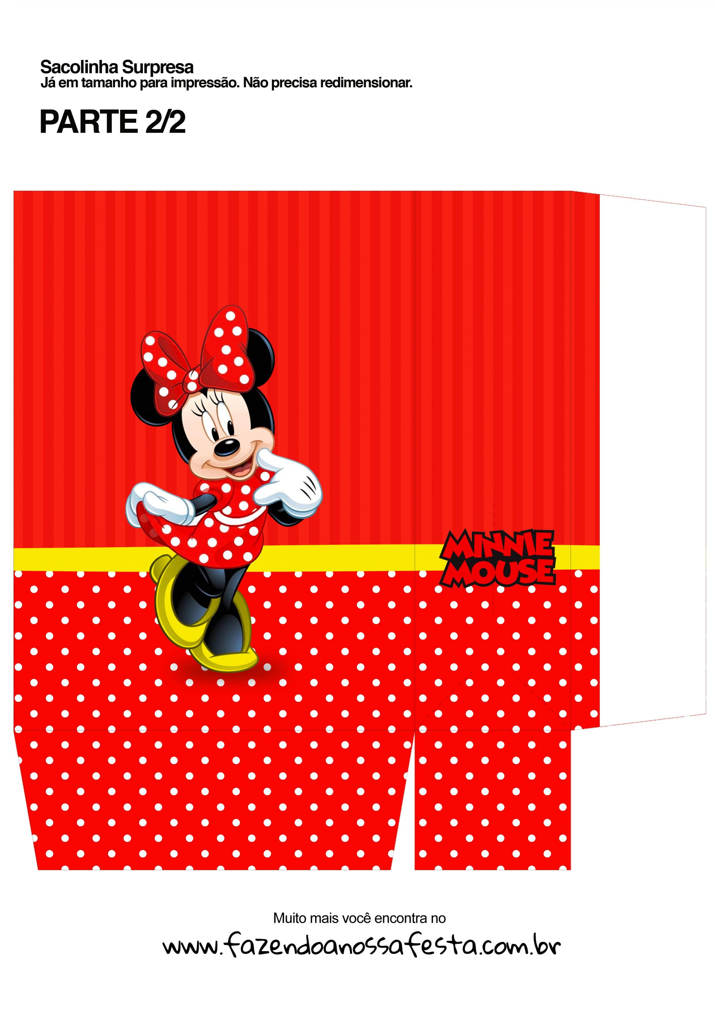Sacolinha Surpresa Minnie Vermelha A4 - Parte 2