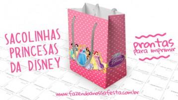 Sacolinha Surpresa Princesas da Disney - Modelo