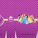 Sacolinha Surpresa Princesas da Disney Roxa A3