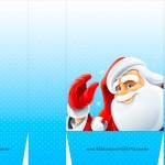 Sacolinha de Natal Papai Noel Acenando A3