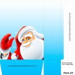 Sacolinha de Natal Papai Noel Acenando - Parte 1 A4
