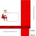 Sacolinha de Natal Papai Noel com Mensagem 2 - Parte 1 A4