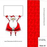 Sacolinha de Natal Papai Noel com Mensagem - Parte 1 A4