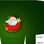 Sacolinha de Natal Papai Noel verde - Parte 1 A4