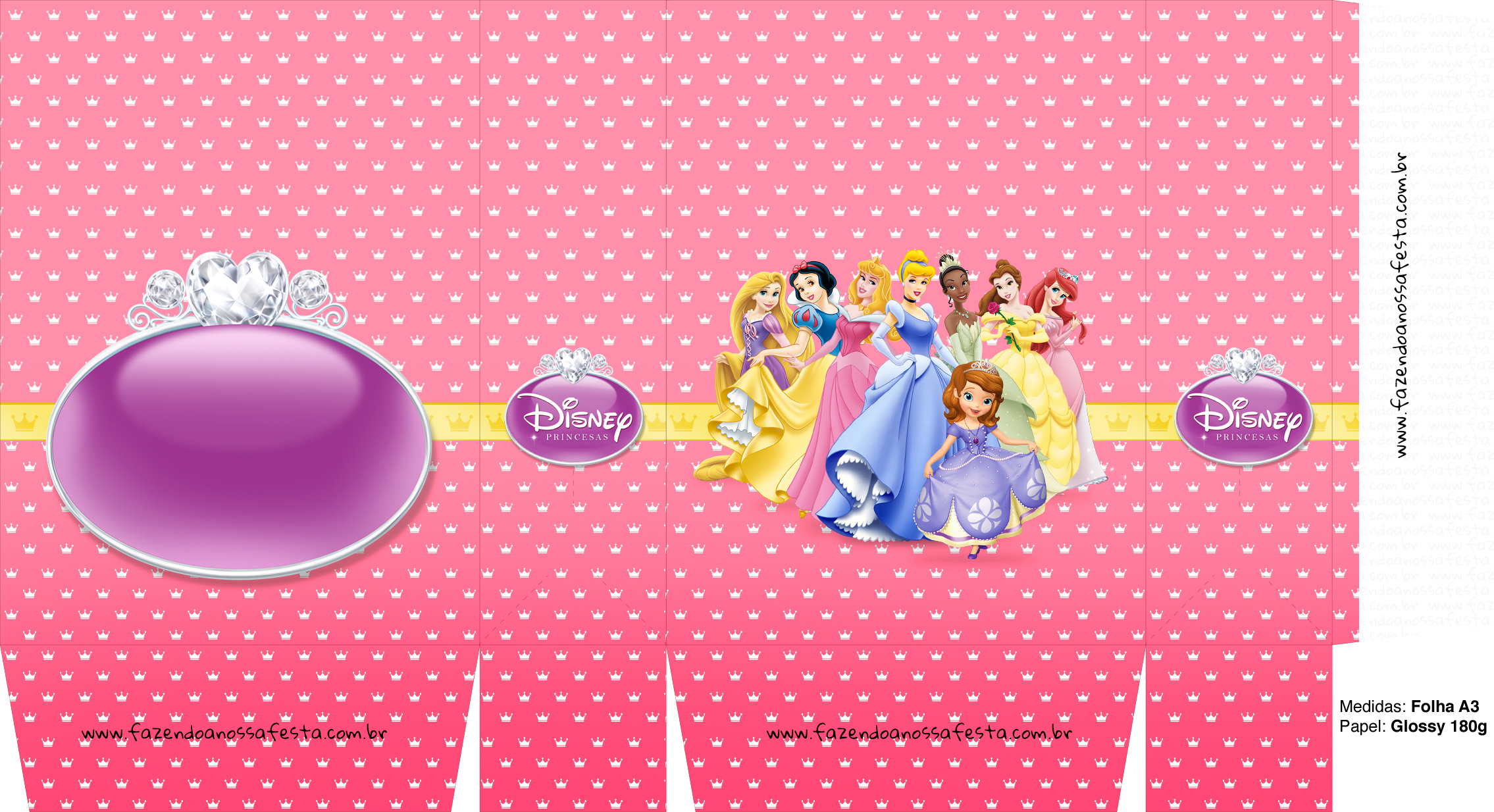 Sacolinhas Princesas Disney A3
