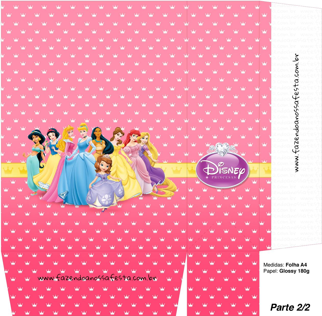 Sacolinha Lembrancinha Princesas da Disney A4 - Parte 2