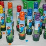 Tubetes Festa Minecraft do Lucas