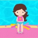 Tubetes Pool Party Menina