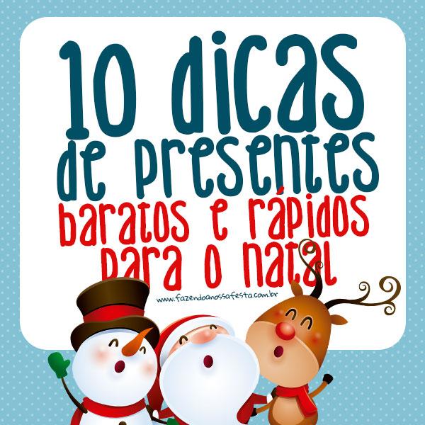 10 Dicas de Presentes Baratos e Rápidos para o Natal