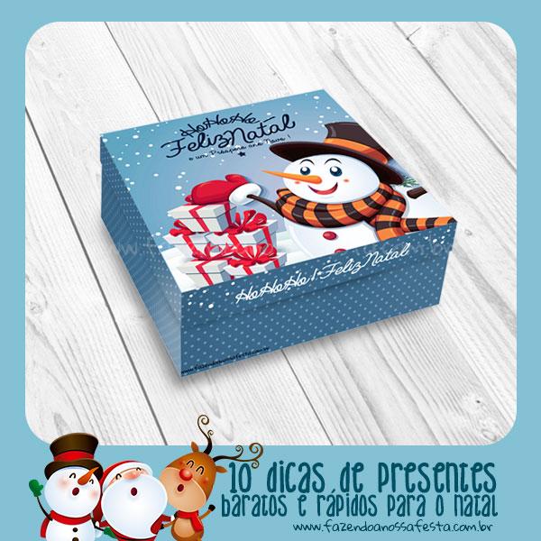 10-Dicas de Presentes Baratos e Rápidos para o Natal Caixinha de Bombom 2