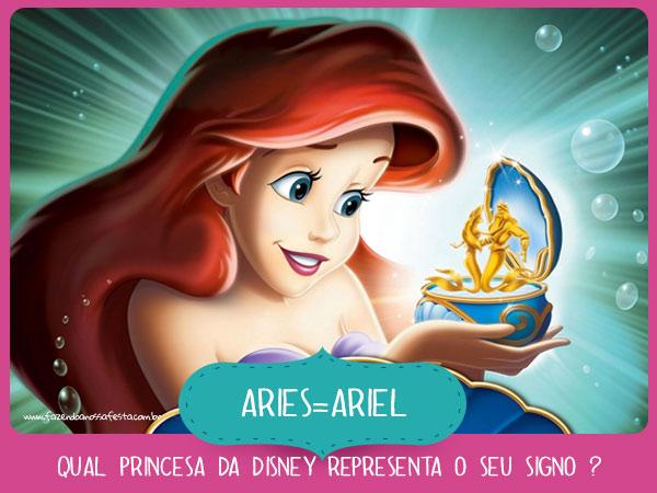 Ariel de Aries Qual princesa da Disney representa o seu Signo