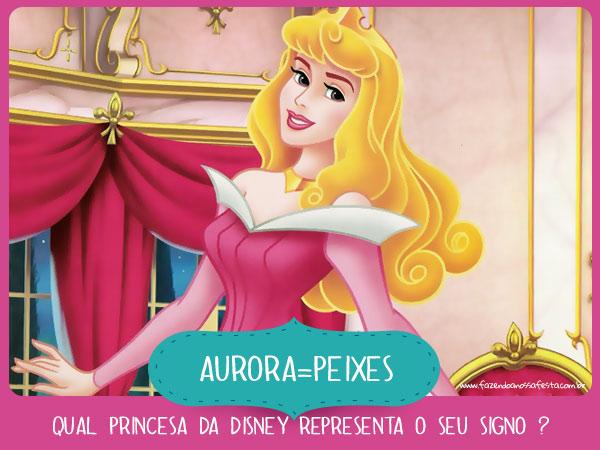 Aurora de Peixes - Qual princesa da Disney representa o seu